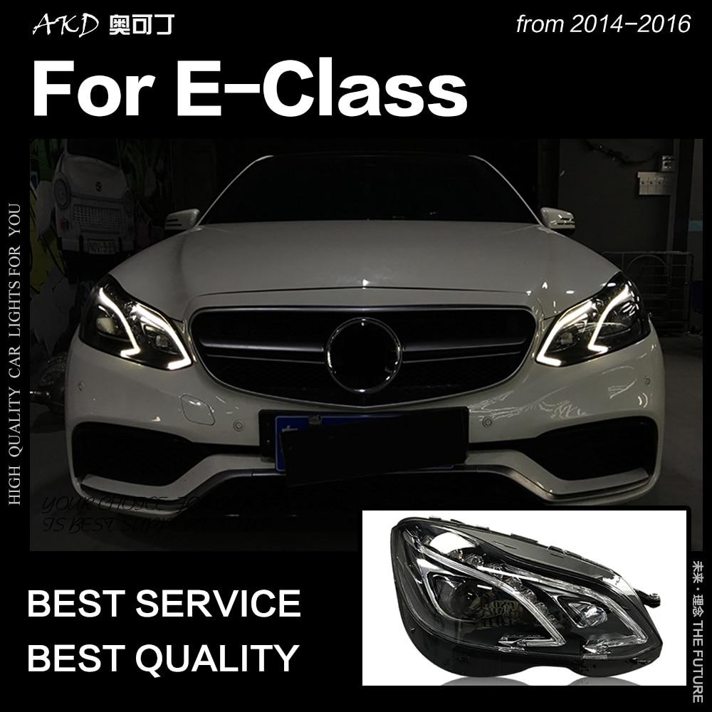 AKD Car Styling Head Lamp for W212 Headlights 2013 2016 W211 E200 E300 E260 LED Headlight