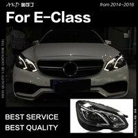AKD Car Styling Head Lamp for W212 Headlights 2013 2016 W211 E200 E300 E260 LED Headlight LED DRL Hid Bi Xenon Auto Accessories