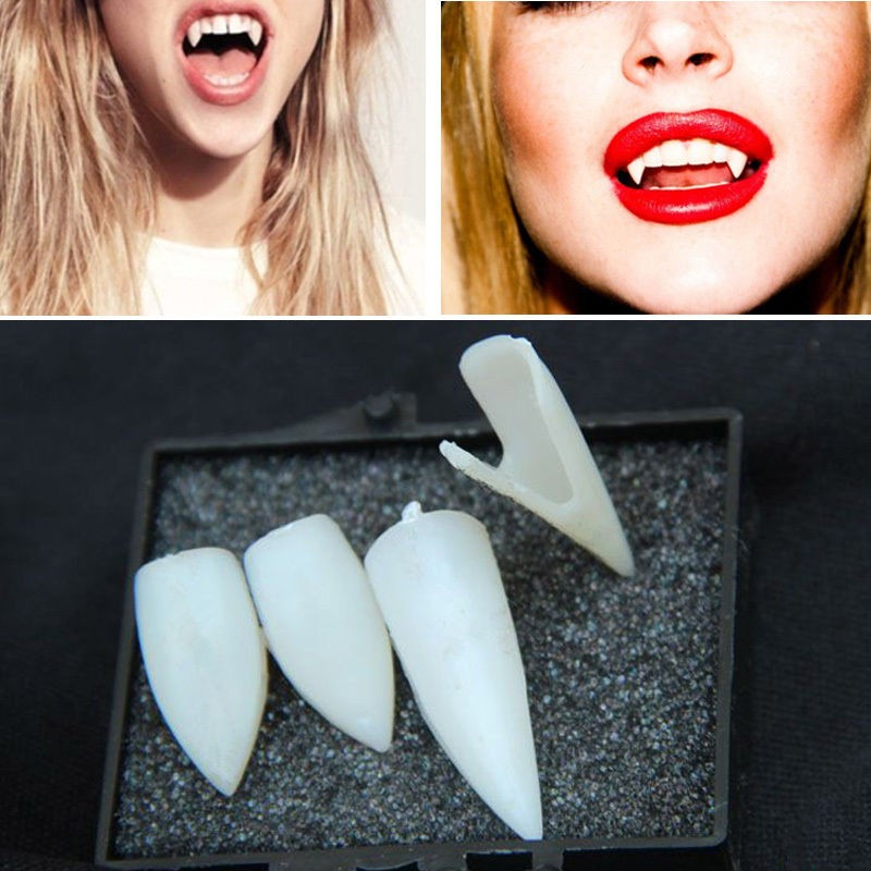 Horrific 20 PCS Dress Vampire Teeth Cosplay Halloween Party Dentures Props Vampire Zombie Devil Fangs Teeth Halloween decoration