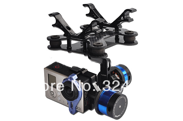 Tarot 2 axes sans balais complet cardan pour caméra Gopro 2 axes FPV KIT système 2014 vente 1 ensemble GoPro 3 TL68A00 avec support gyroscopique PTZ
