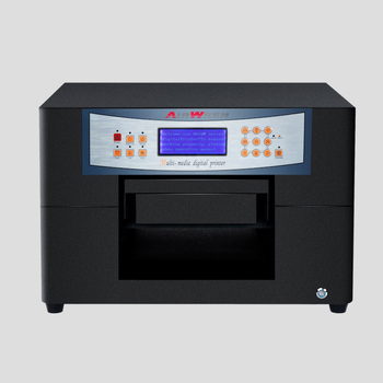 Muti-color digital flatbed printer a4 size inkjet eco solvent printers with high resolution 1440dpi