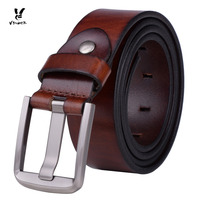 Dark Brown Men S Simple Leather Belt Fashionable And All Matched Belt With Alloy Pin Buckle