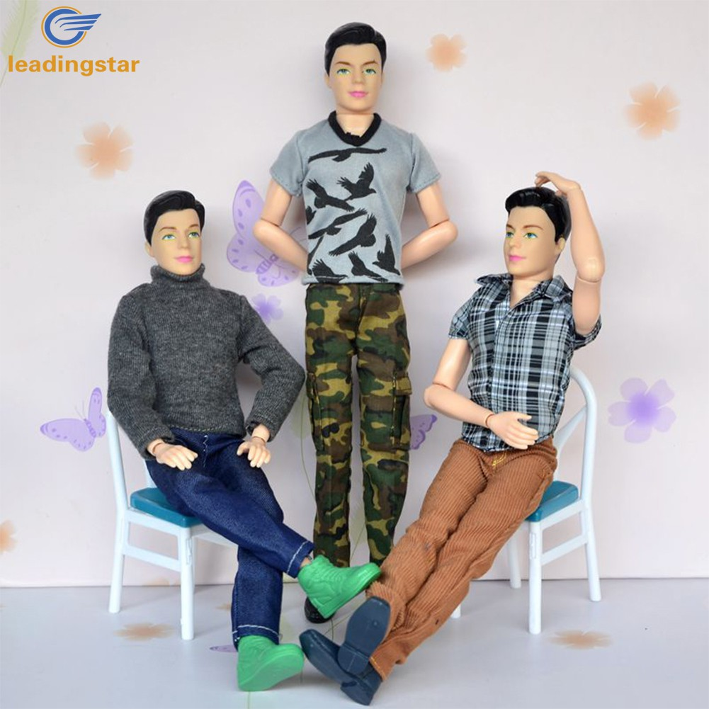 LeadingStar Doll Clothes 6 Pcs Casual Wearing Fashion 2 T-shirt 1 Sweater 3 Pants Set for Barbie's Boyfriend Ken Doll zk15 andis ionica машинка для стрижки волос