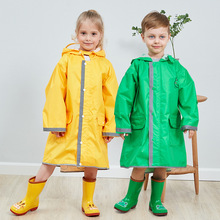 Cartoon animal rabbit Cow frog Childrens raincoat boys girls poncho big hat child safety reflective strip Waterproof