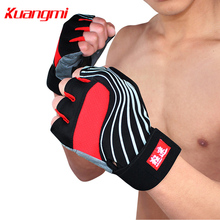 Kuangmi sports gloves warm mittens taekwondo and Sanda mitts with the locomotive glove Black&Red