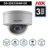 Hik PTZ IP Камера DS 2DE3304W DE 3MP Сеть мини купольная безопасности Камера 4X 2,8 ~ 12 мм Оптический зум Поддержка P2P удаленного просмотра