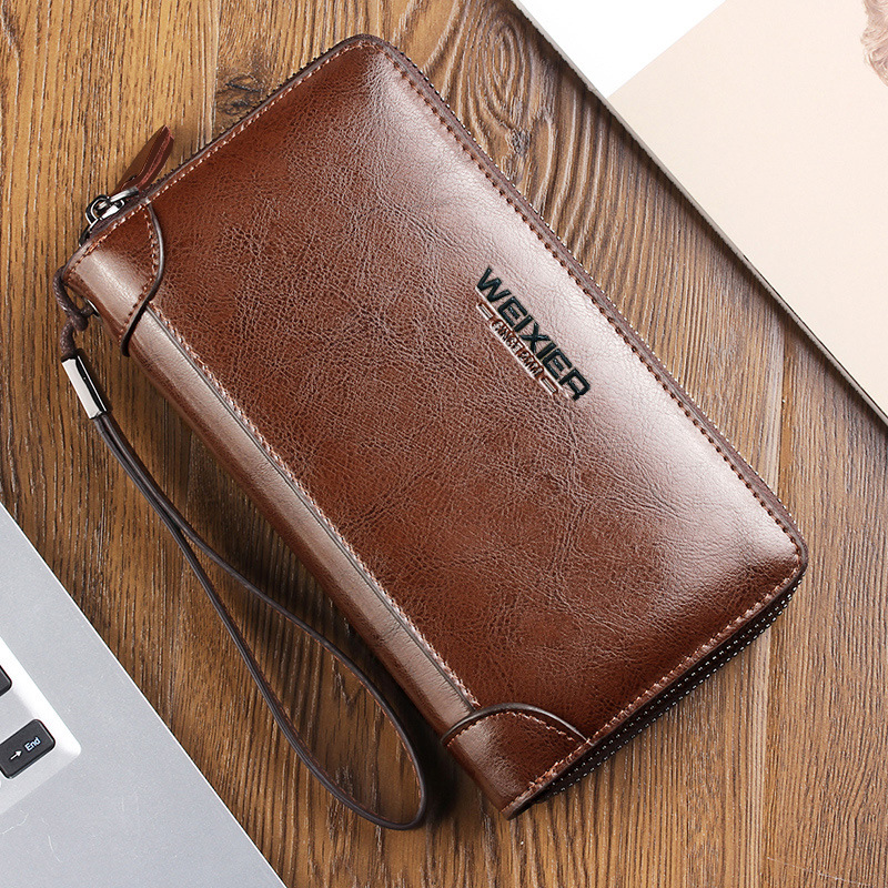 New luxury Long men wallets coin slot Purse Zipper purse clutch Hasp wallet Money Bag quality fashion