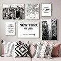 Картины на холсте в американском стиле с картой Нью-Йорка, здание, фотография, настенные картины, плакаты и принты для гостиной, домашний дек...
