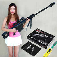 Darmowa wysyłka 1:1 skala M82A1 12.7mm karabin snajperski 3D Model papieru zestawy Cosplay Kid dorosłych pistolet broń modele papieru pistolet zabawki