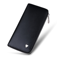 Fashion men long wallet leather purse handbags for male luxury brand zipper men clutche