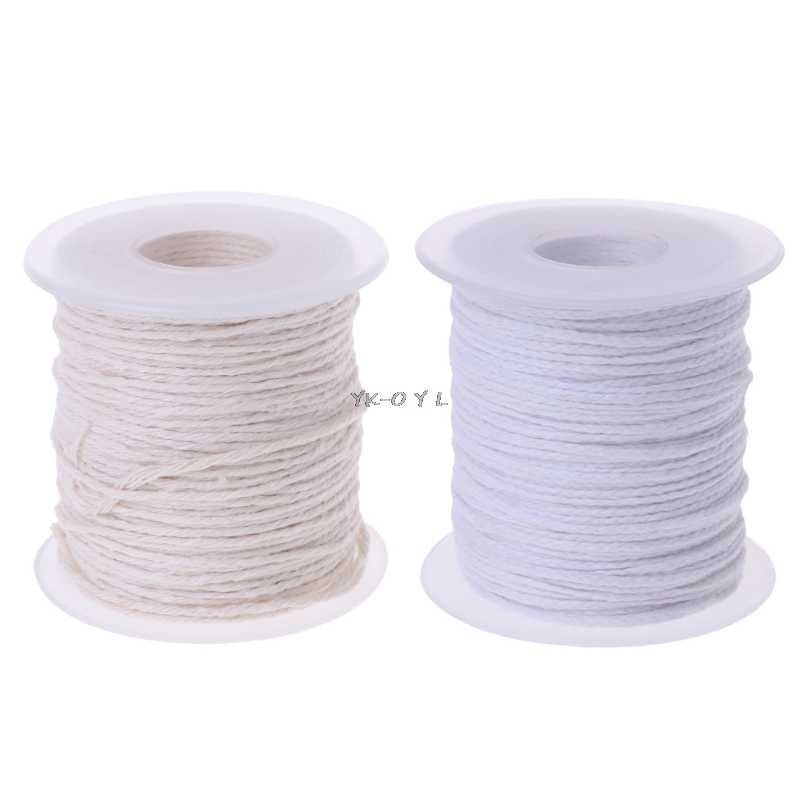 Cotton Braid Candle Wick Core Spool Non-smoke Oil Lamps Candles Making Wick