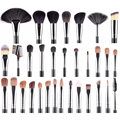 Makeup Brushes 32 pcs Set and  PU Black hang on waist high quality Mink Goat hair Kit Foundation Make up tools#84726