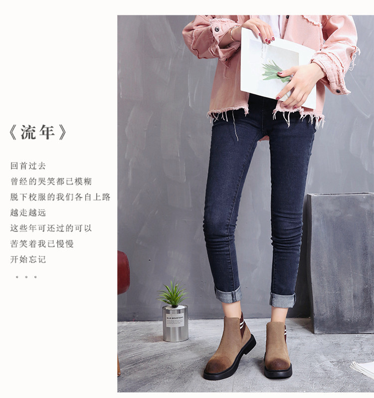 The new autumn 2018 Martin boots flat short tube with restoring ancient ways round head women's boots 48