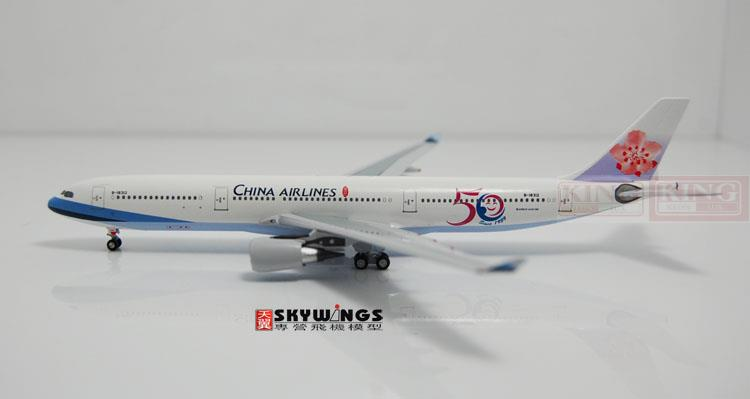 Aeroclassics Taiwan China Aviation B-18312 1:400 50 anniversary A330-300 commercial jetliners plane model hobby gjcca1366 b777 300er china international aviation b 2086 1 400 geminijets commercial jetliners plane model hobby