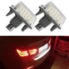 2 светодиодный шт./лот canbus led номер номерные знаки для мотоциклов лампы OBC ошибок 18 светодиодный LED Toyota Yaris camсветодиодный ry светодиодные задние Registed свет
