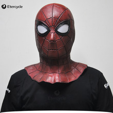 Spiderman Halloween mask party quality Full face Latex The New cosplay decoration props Masquerade Mask