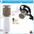 BM-800 HighQuality Professional Condenser Studio Sound Recording  Wired White Microphone With Shock Mount For Radio Braodcasting