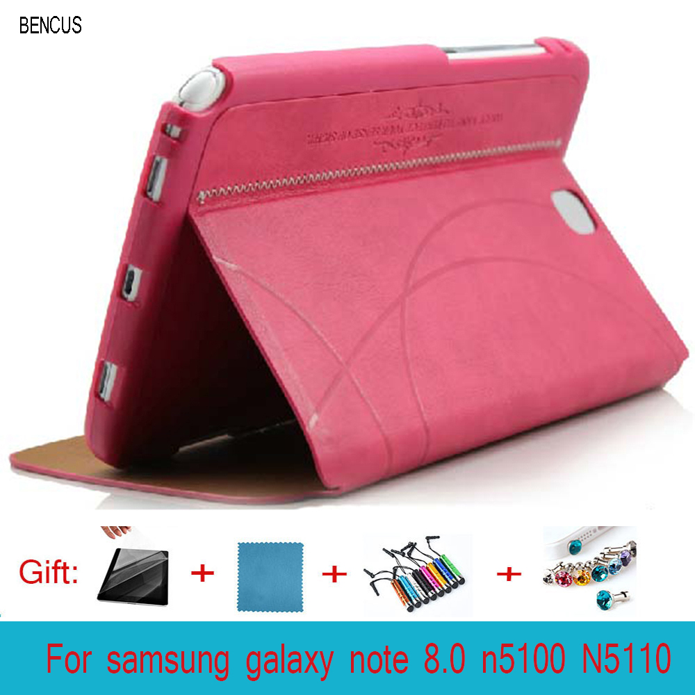 BENCUS KAKU Luxury Leather Smart Case Stand Magnetic Cover for samsung galaxy note 8.0 n5100 case N5110 leather case +Pen