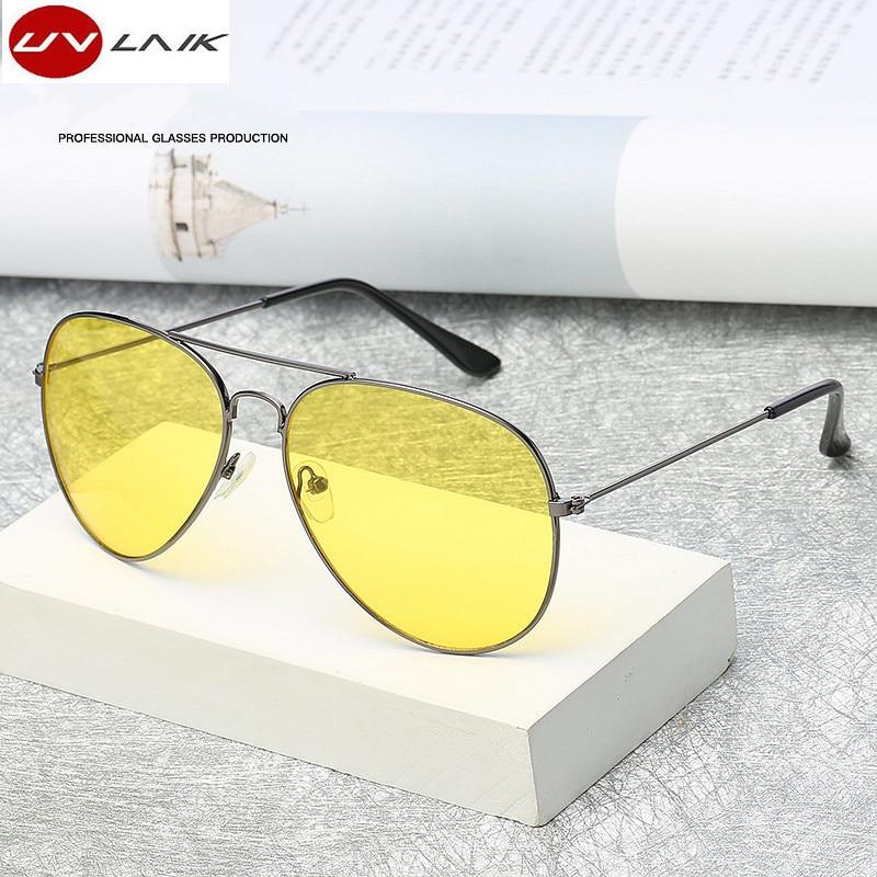 bd46b00b300 UVLAIK Polarized Night Vision Sunglasses Men Women Goggles Glasses UV400  Sun Glasses Driver Night Driving Eyewear-in Sunglasses from Apparel  Accessories on ...