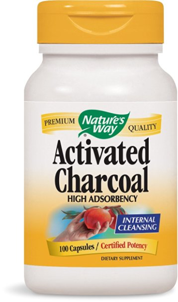 ФОТО Nature's Way Activated Charcoal, 100 Capsules