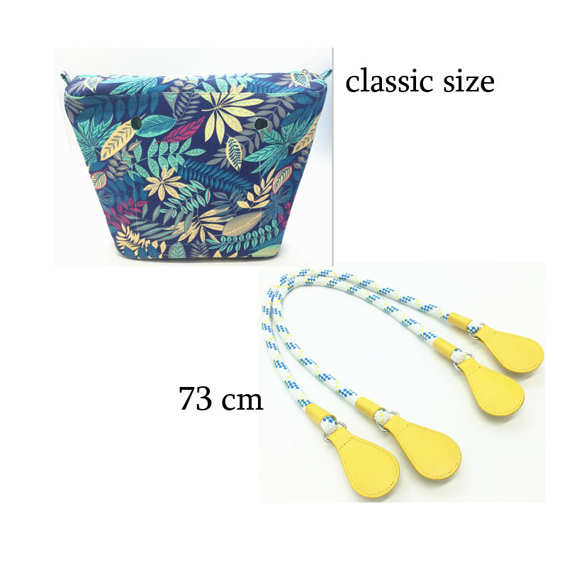 1 set lining Zipper Pocket For Classic for Obag Canvas insert and handle 2017