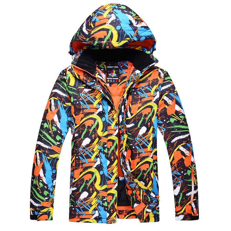 Lovers Ski Jackets Men And Women Graffiti Color Waterproof Windproof Warm  Winter Snowboard Jackets Outdoor Snow 92d2496f2