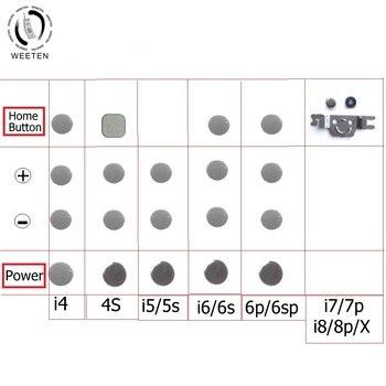 Inicio & Power & volumen, botón lateral de llave, junta de metal para iphone 4 4S 5 5s 6 6s 7 8 x plus, samll inner metal cushion shell repara