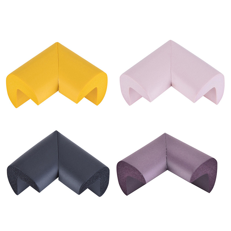 4pc/ Lot Kid Soft Baby Safe Corner Protector Baby Kids Table Desk Corner Guards Children Safety Edge Guards Wholesale FZH