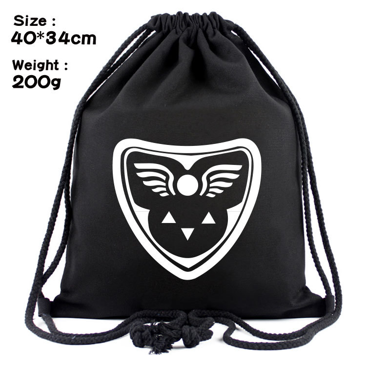 Undertale Legend Canvas Contracted Draw String Bag Backpack Beam Under The Male And Female Students Outdoor Sports Bag