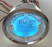 1pc 6 In 1 Multifunction Gauges Auto GPS Speedometer 85mm Tachometer 0 10Bar Oil Pressure Gauges 8 16V Volt Meters Fuel Gauges
