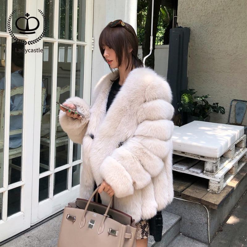 Mode Courte Col Nouvelles Manteau Naturel 2018 Véritable 139 De Femmes Fc Hiver Taille Veste Rose Renard Grande Fourrure qpzAH64n
