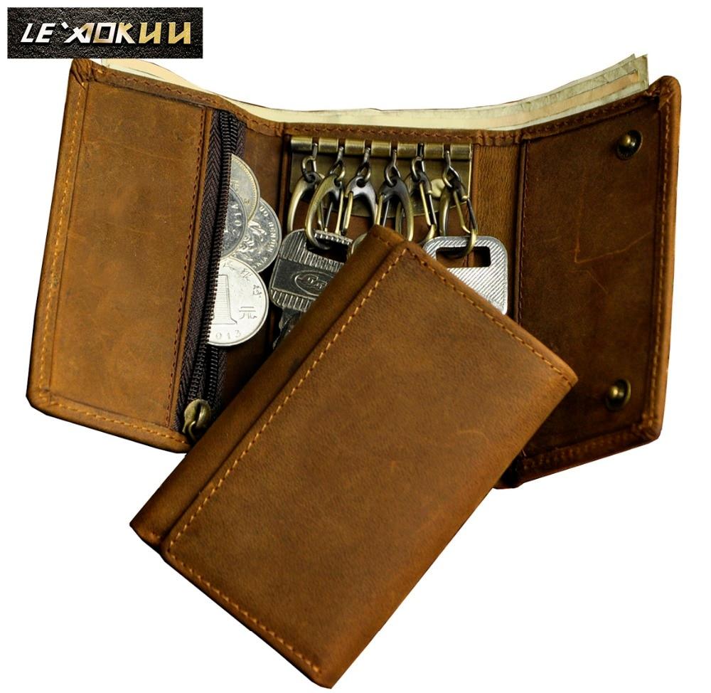 2016 új Hot Sale szarvasmarha férfi férfi design vintage őrült ló Valódi bőr függőleges kártya Mini praktikus pénztárca pénztárca Snap