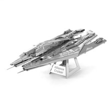 Mass Effect Alliance Cruiser Fun 3d Metal Diy Miniature Model Kits Puzzle Toys Children Educational Boy Splicing Science Hobby