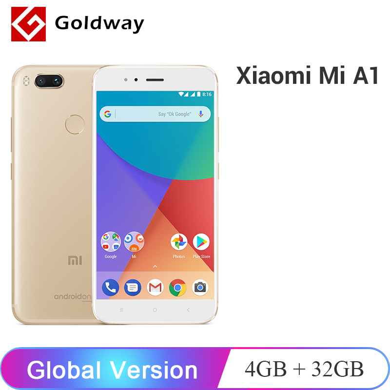 US $118 99 |Global Version Original Xiaomi Mi A1 MiA1 4GB RAM 32GB ROM  Snapdragon 625 Octa Core 12 0MP Dual Camera Android One Smarphone-in  Cellphones