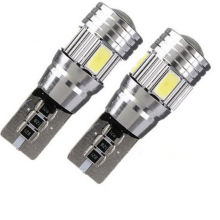 2 X T10 194 W5W 5630 LED 6 SMD Canbus ERROR FREE Car Side Wedge Light Bulb High Mount Stop Light and Interior Lights лампа светодиодная gauss ld108008208 led gx53 8w 4100k
