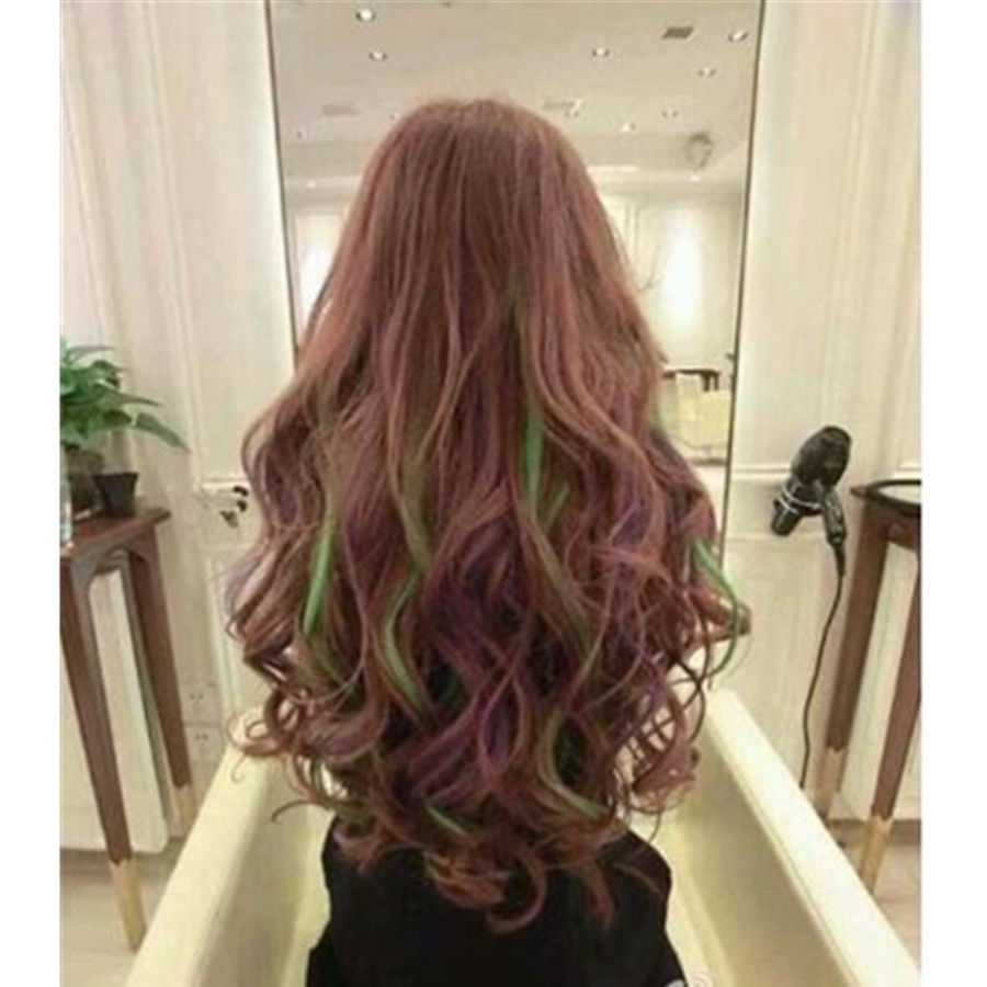 Us 1 68 5 Off 7 Colors Fashion Temporary Vibrant Glitter Instant Streaks Hair Color Coloring Style Styling Care Dye Chalk Beauty Products In Hair