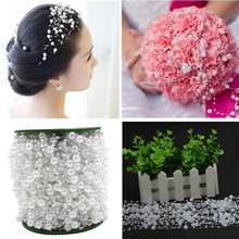 1 Meters 8+3mm Fishing Line Artificial Pearls Beads Chain Garland Flowers DIY Wedding Party Decoration Products Supply(China)