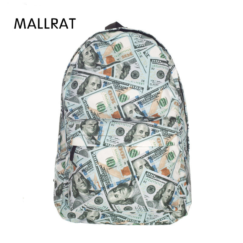 2017 Fashion Dollar Printed backpack Women Bag Daily Traveling five nights at freddys backpacks school bags for teenagers Girls