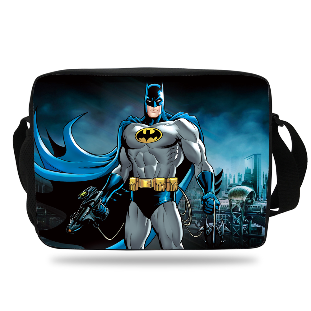 aae20b4ffd 2017 Cool BatMan Shoulder Bag For Children School Single Messenger Bag For Kids  Girls Boys Messenger Bag Superman Hero Teenager on Aliexpress.com