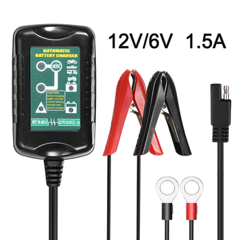 12V/6V LED Full Automatic Car Battery Charger Best Charging for RV Motorcycle Automatic Marine AGM GEL Batteries