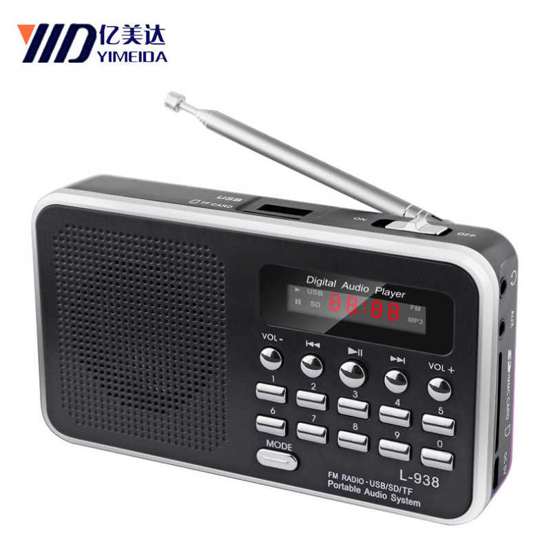 Rolton Draagbare Mini Fm Radio Dab Radio Portatil Am Fm Radyo Muziekspeler Speaker Voor Tf Sd Card Usb Lcd display Zaklamp