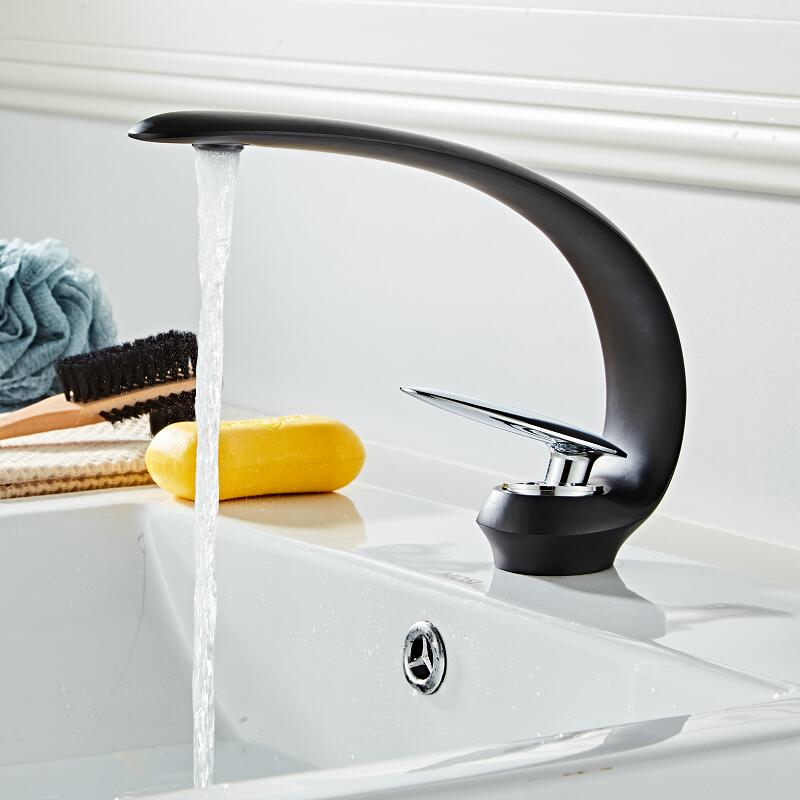 Basin Faucet Modern Black/Gold Bathroom Sink Mixer Tap Brass Wash basin Faucet Single Handle Single Hole Crane For BathroomBasin Faucet Modern Black/Gold Bathroom Sink Mixer Tap Brass Wash basin Faucet Single Handle Single Hole Crane For Bathroom