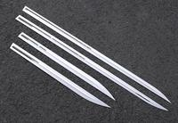 2017 뷰익 전용 새 리갈 수정 된 스테인레스 스틸 도어 사이드 리갈 GS 바디 장식 밝은 충돌 방지 바