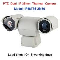 36x зум 2MP 1080 P двойной источник света 3 км междугородние Термальность изображений Камера Ptz IP для лесной пожар защита границы прибрежных
