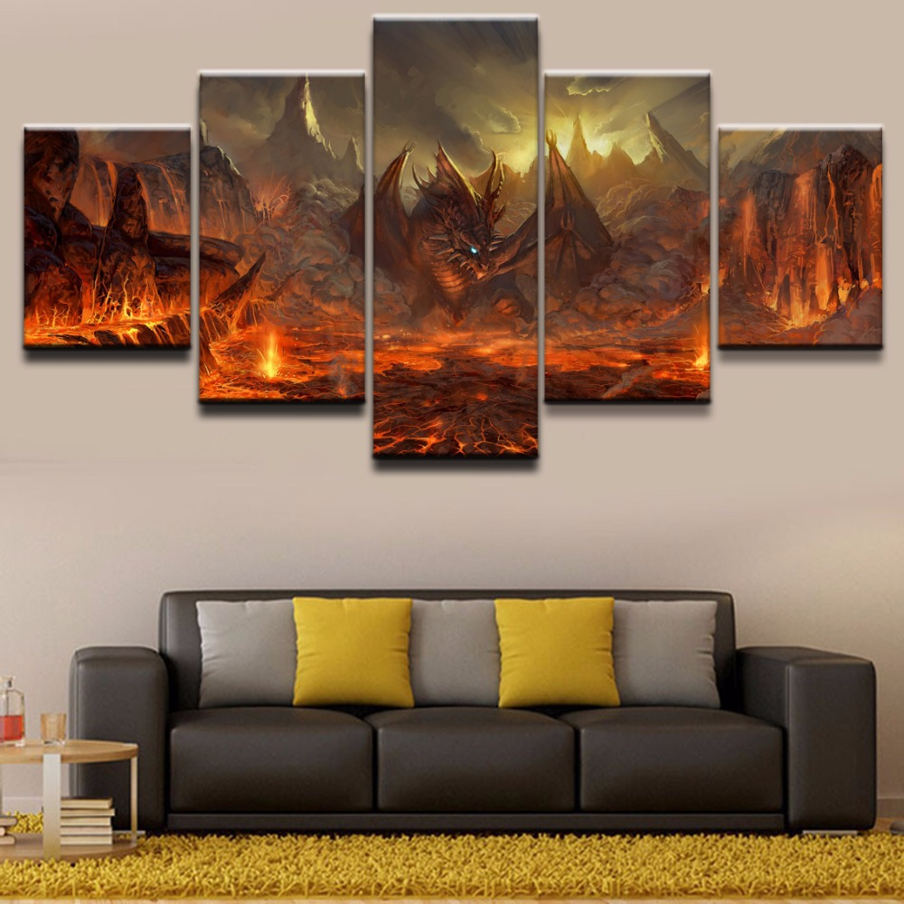 Fantasy Home Decor: Wall Art Canvas HD Prints Paintings Home Decor For Liveing