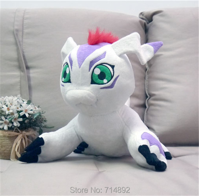 40cm Digital Monster Gomamon plush toy Digimon Adventure Kido Joe pet high quality cosplay short plush doll pillow free shipping hot sale short plush chew squeaky pet dog toy