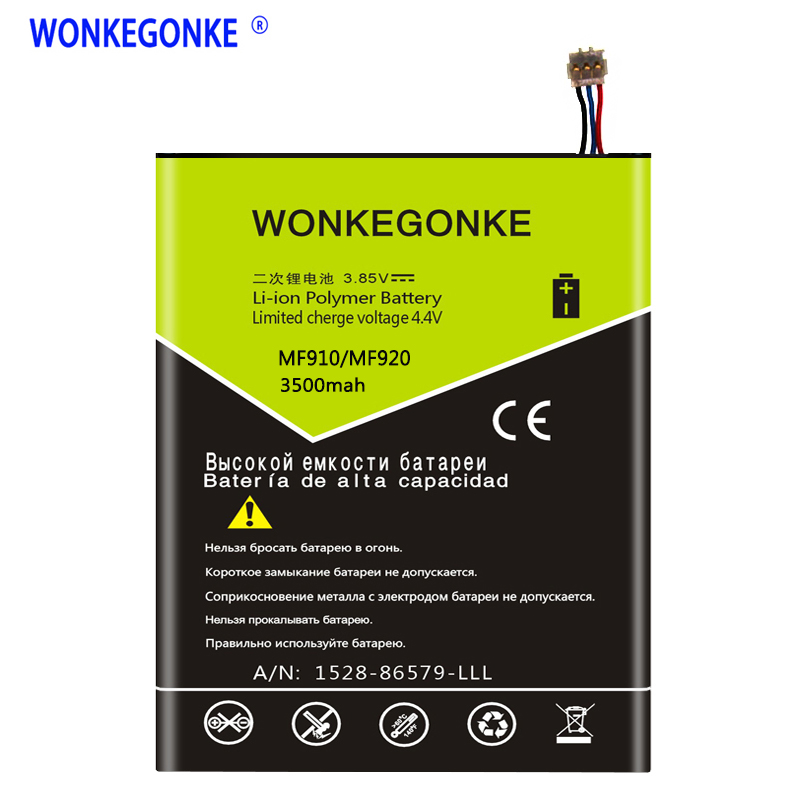 WONKEGONKE LI3820T43P3h715345 Battery For ZTE Grand S Flex / For ZTE MF910 MF910S MF910L MF920 MF920S MF920W+ Batteries BateriaWONKEGONKE LI3820T43P3h715345 Battery For ZTE Grand S Flex / For ZTE MF910 MF910S MF910L MF920 MF920S MF920W+ Batteries Bateria