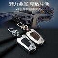 Кожа Ключа Автомобиля брелок крышки случая бумажника для Toyota Corolla Camry Горец Reiz RAV4 Брелок Кольца брелок сумка Аксессуары