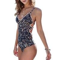 2pcs Floral Print Swimsuit 2017 Bikini Push Up Swimwear Women Vintage Biquini Bathing Suit Maillot De