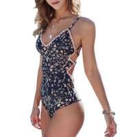 2pcs Floral Print Swimsuit 2017 Bikini Push Up Swimwear Women Vintage Biquini Bathing Suit Maillot De